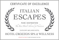 certificato Italian Escape, Hotel Crozzon spa & wellness